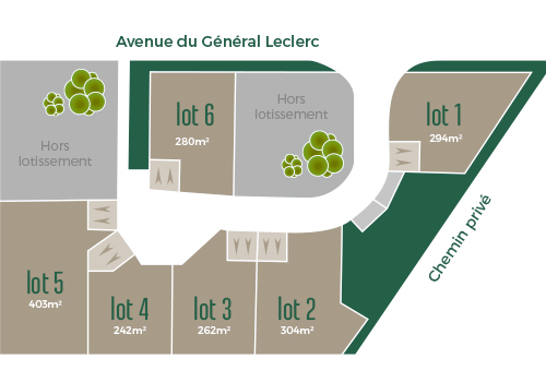 Plan Terrains à bâtir Morières-lès-Avignon | L'Open