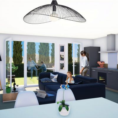 PERSPECTIVE INTERIEUR 7 VILLAS